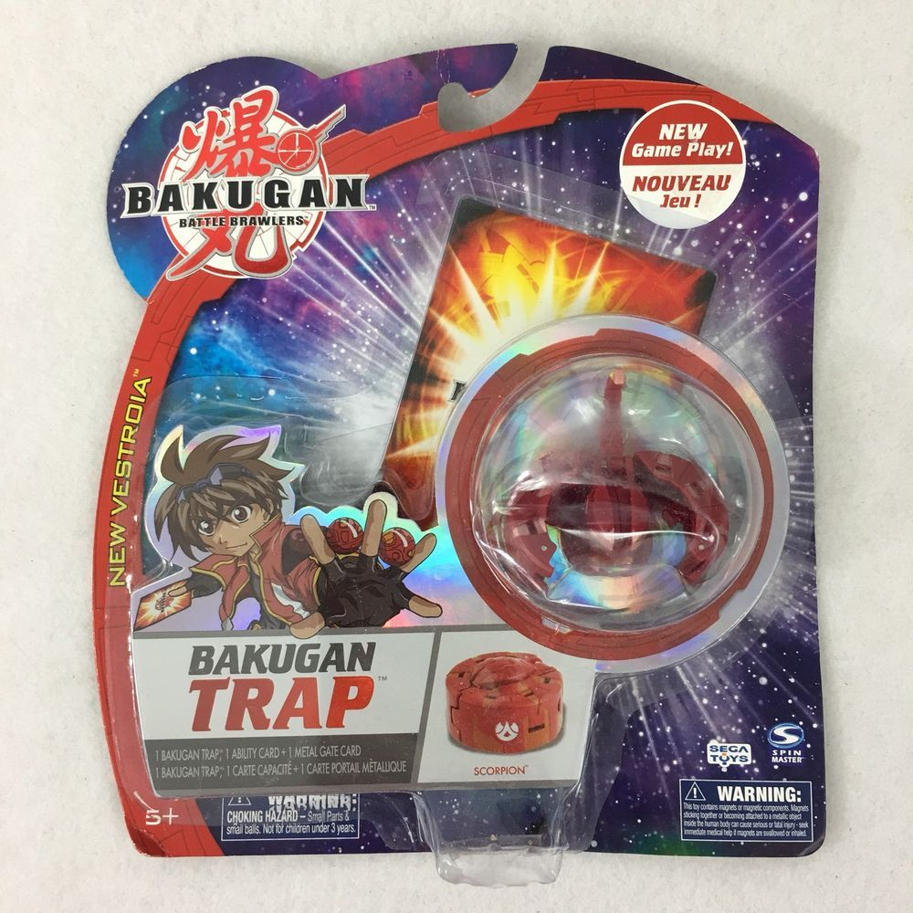 New Bakugan Battle Brawler Vestroia Trap Scorpion Red Ability Card