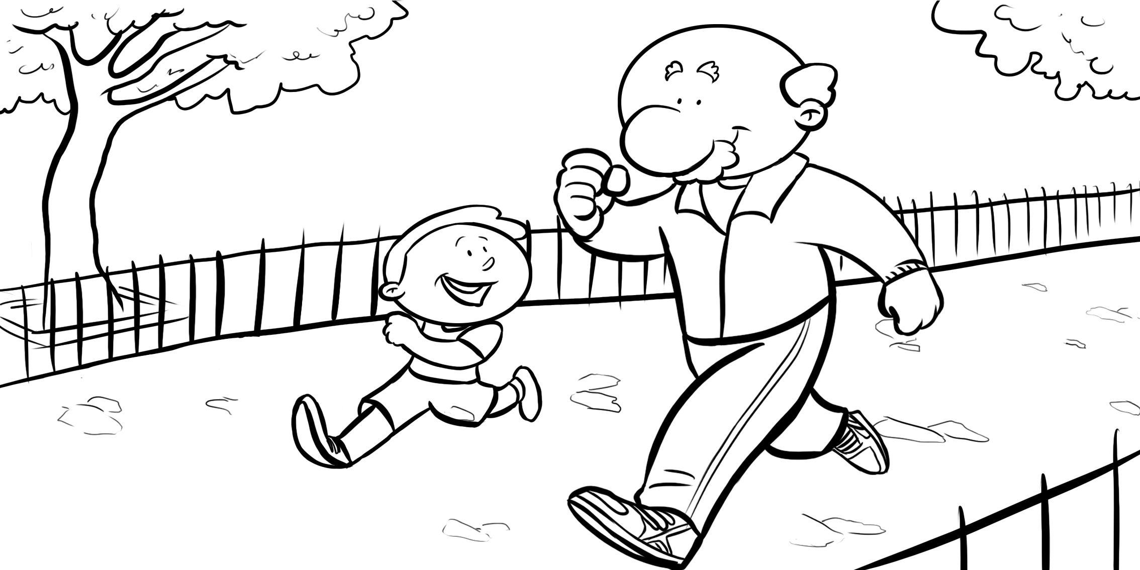 Nino Pasea Con Sus Abuelos
