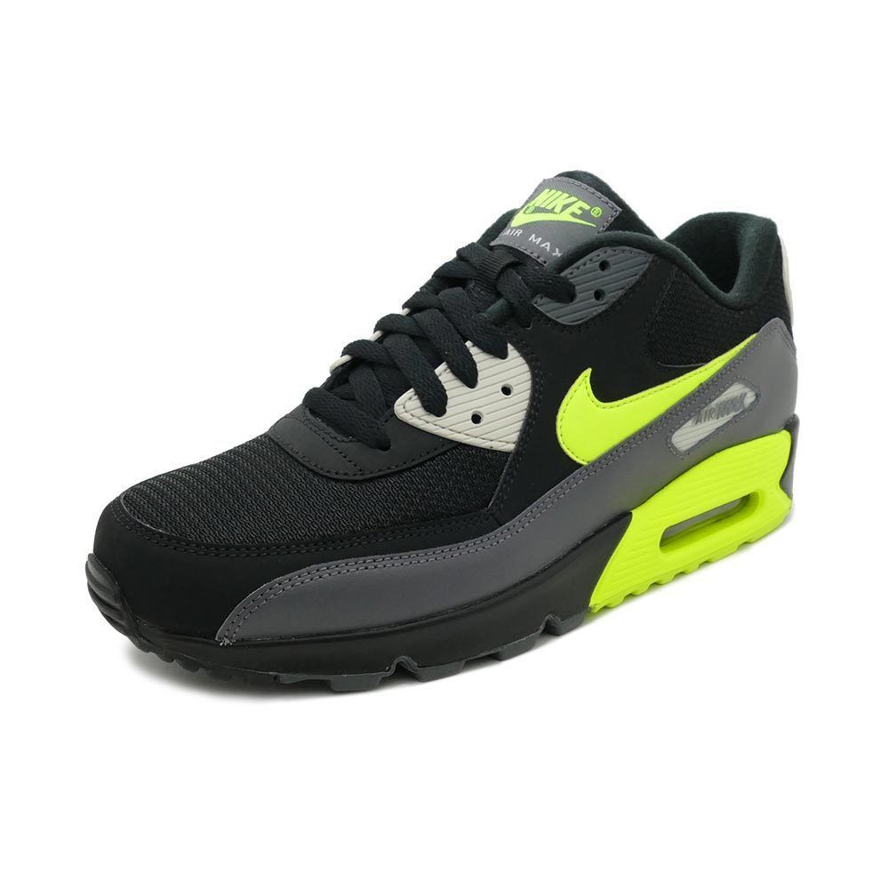 san francisco bd781 5a324 Nike Air Max 90 Essential Dark Grey Volt Black Light Bone Yellow AJ1285 015  Size