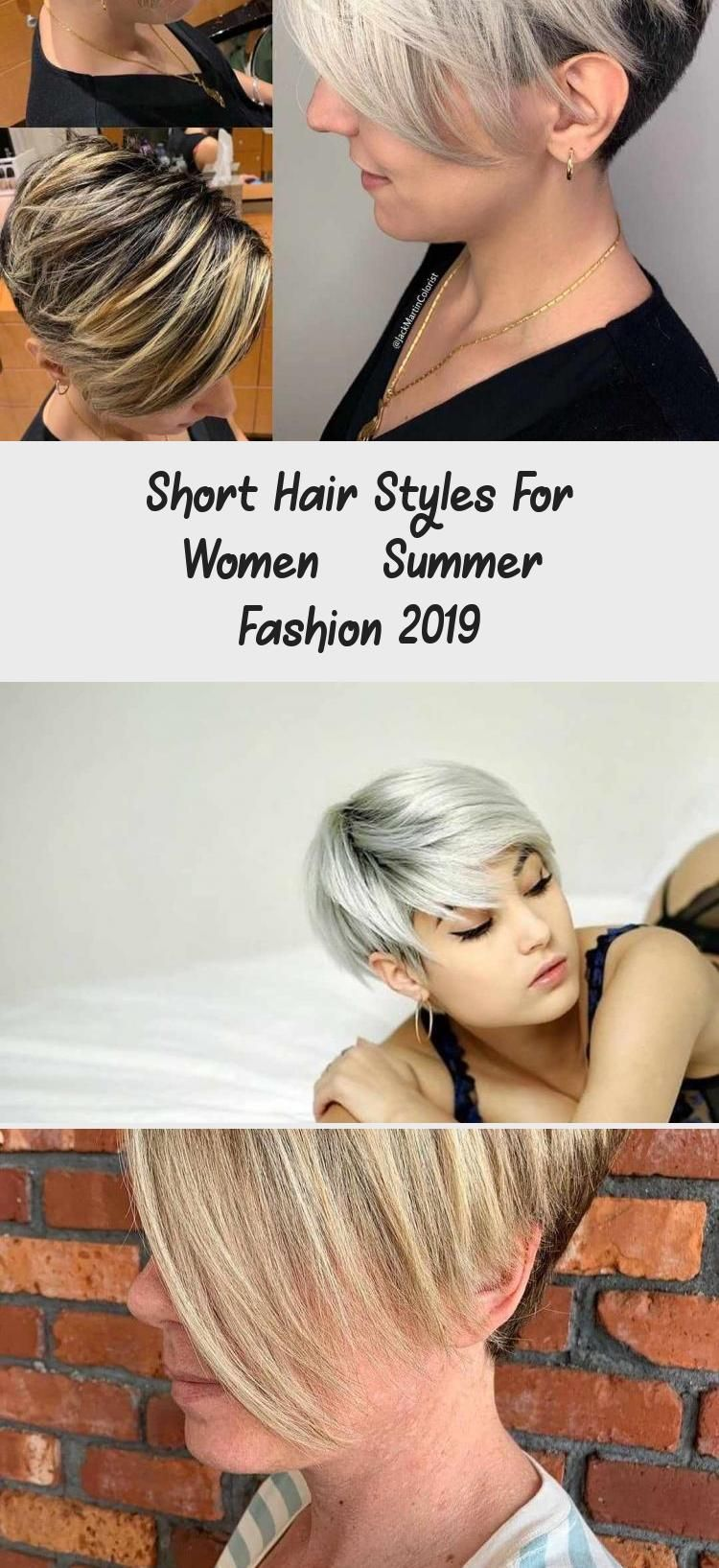 Short Hair Styles For Women – Summer Fashion 12 in 12  Short