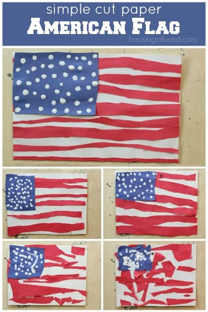 Patriotic crafts for kids ~ American Flag Craft for Kids Great for a 4th of July or Memorial