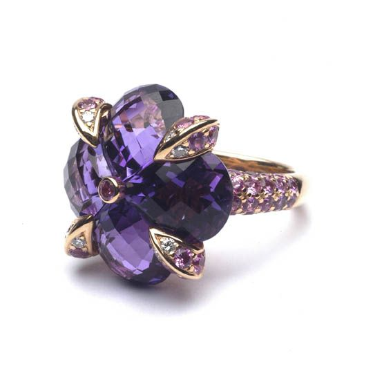 flower power... amethyst diamond ring by Rodney Rayner