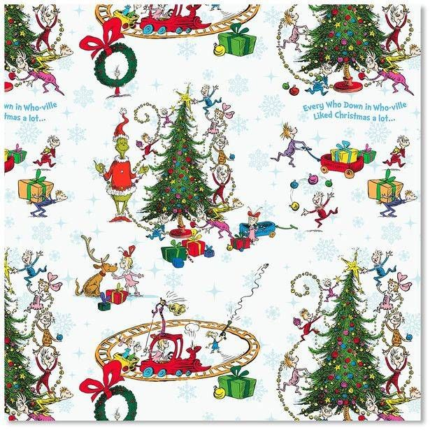 The Grinch Christmas Wrapping Paper Hallmark christmas
