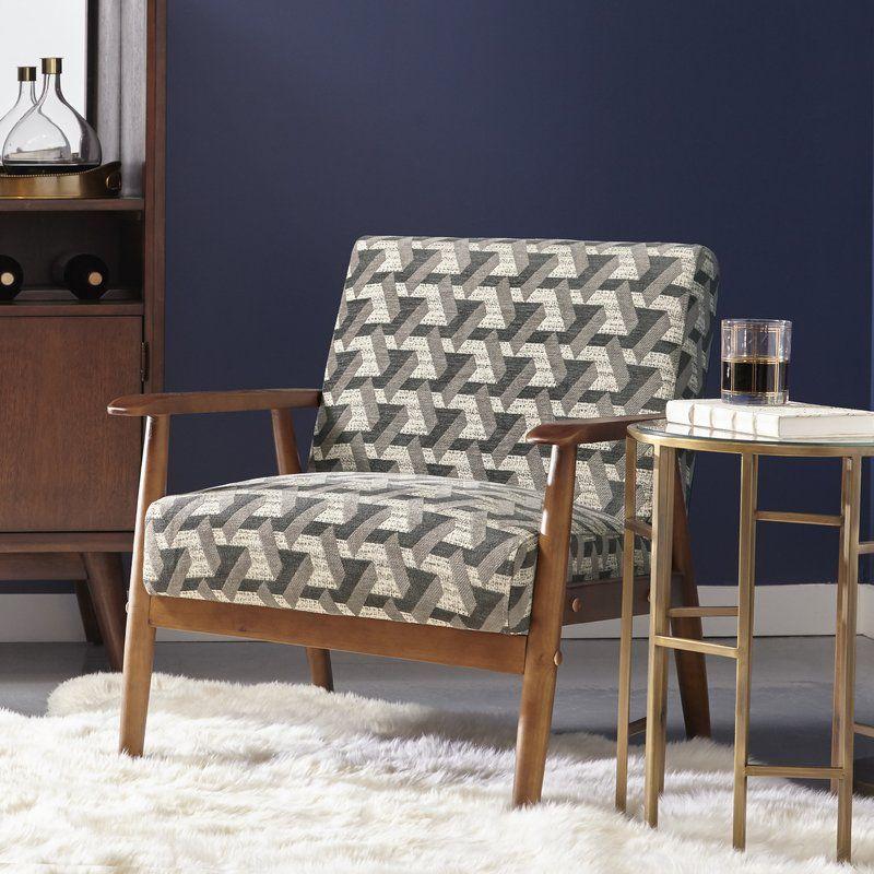 langley street izabella wood frame armchair reviews wayfair - Wood Frame Armchair