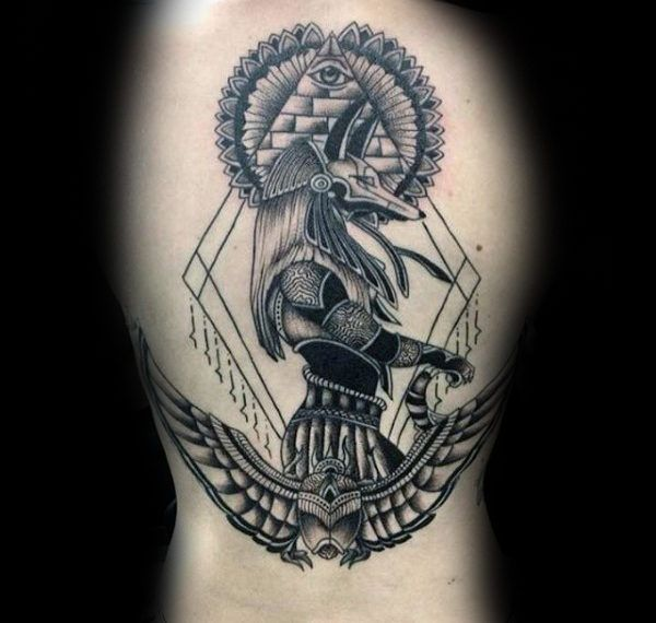 100 Anubis Tattoo Designs For Men Egyptian Canine Ink Ideas Idee