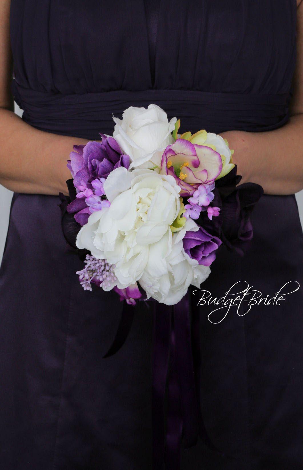 Regency Purple Davids Bridal Wedding Flowers Brides Bouquet Mixed