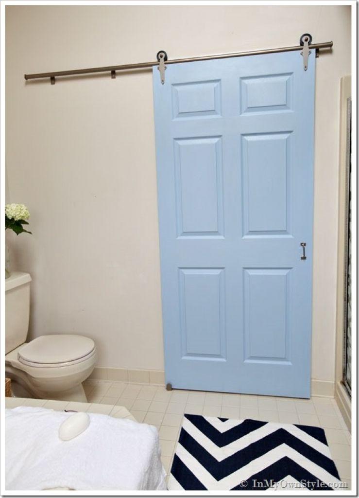 Bathroom Sliding Door Designs Gets A Makeover Using Rolling Hardware Model