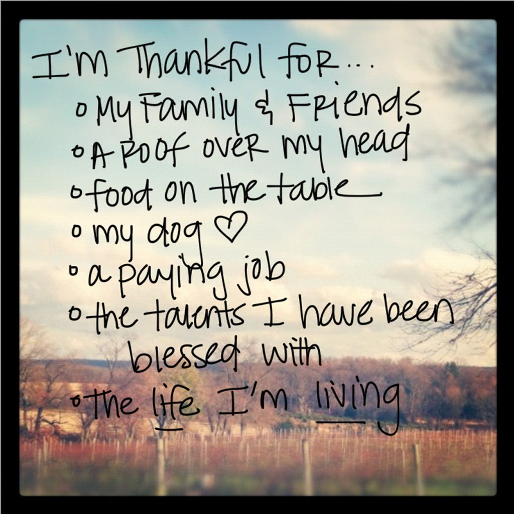 Quotes Thankful: Things I'm Thankful For…