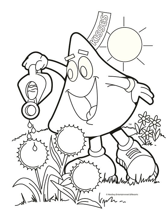 Spring Printable Coloring Sheet Coloring Pages Craft Printing