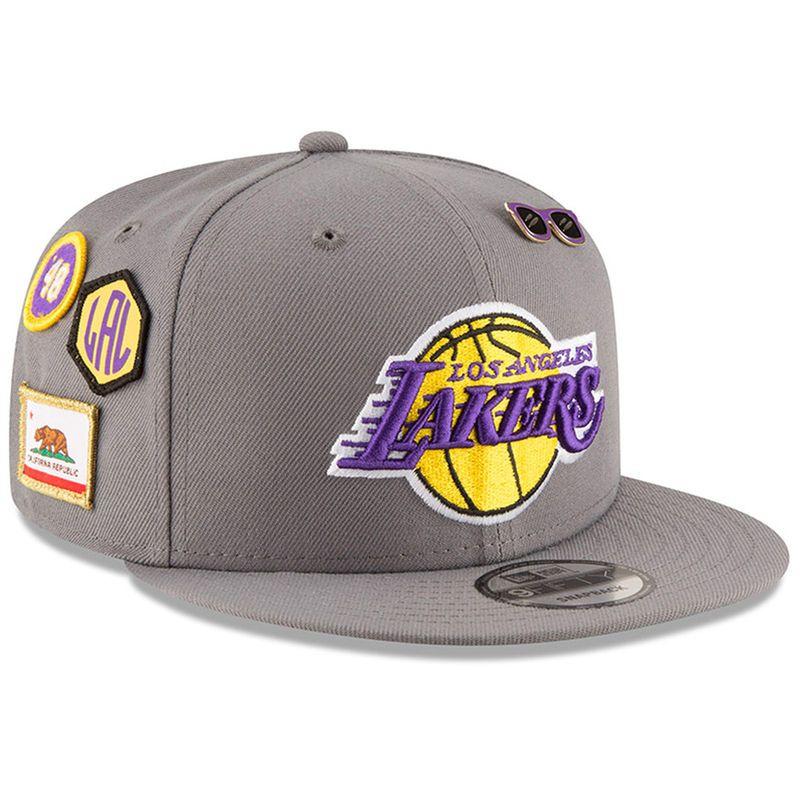 5e1de369888f5e Los Angeles Lakers New Era 2018 NBA Draft 9FIFTY Adjustable Hat – Gray
