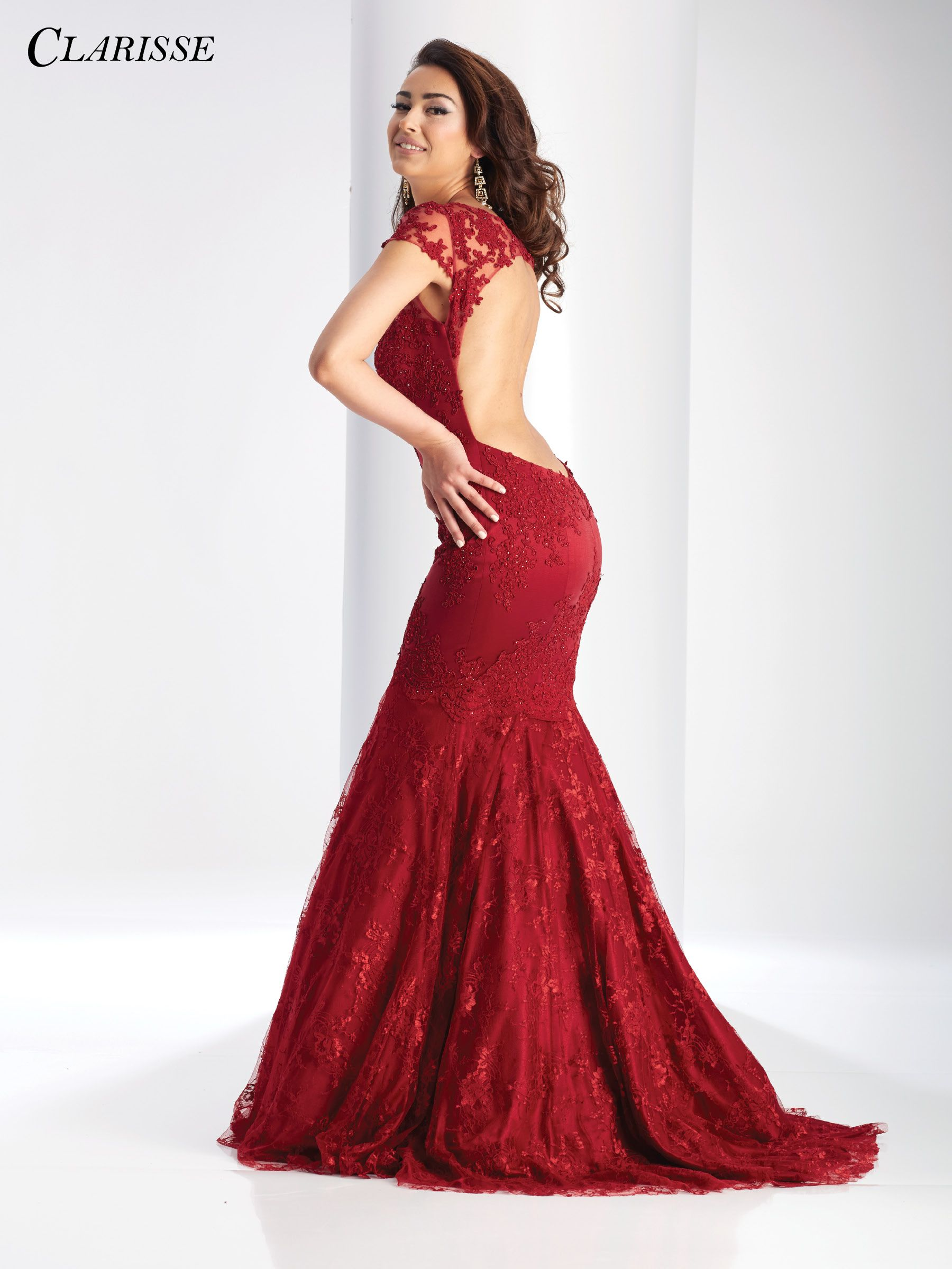 Clarisse prom dress this elegant lace mermaid dress with