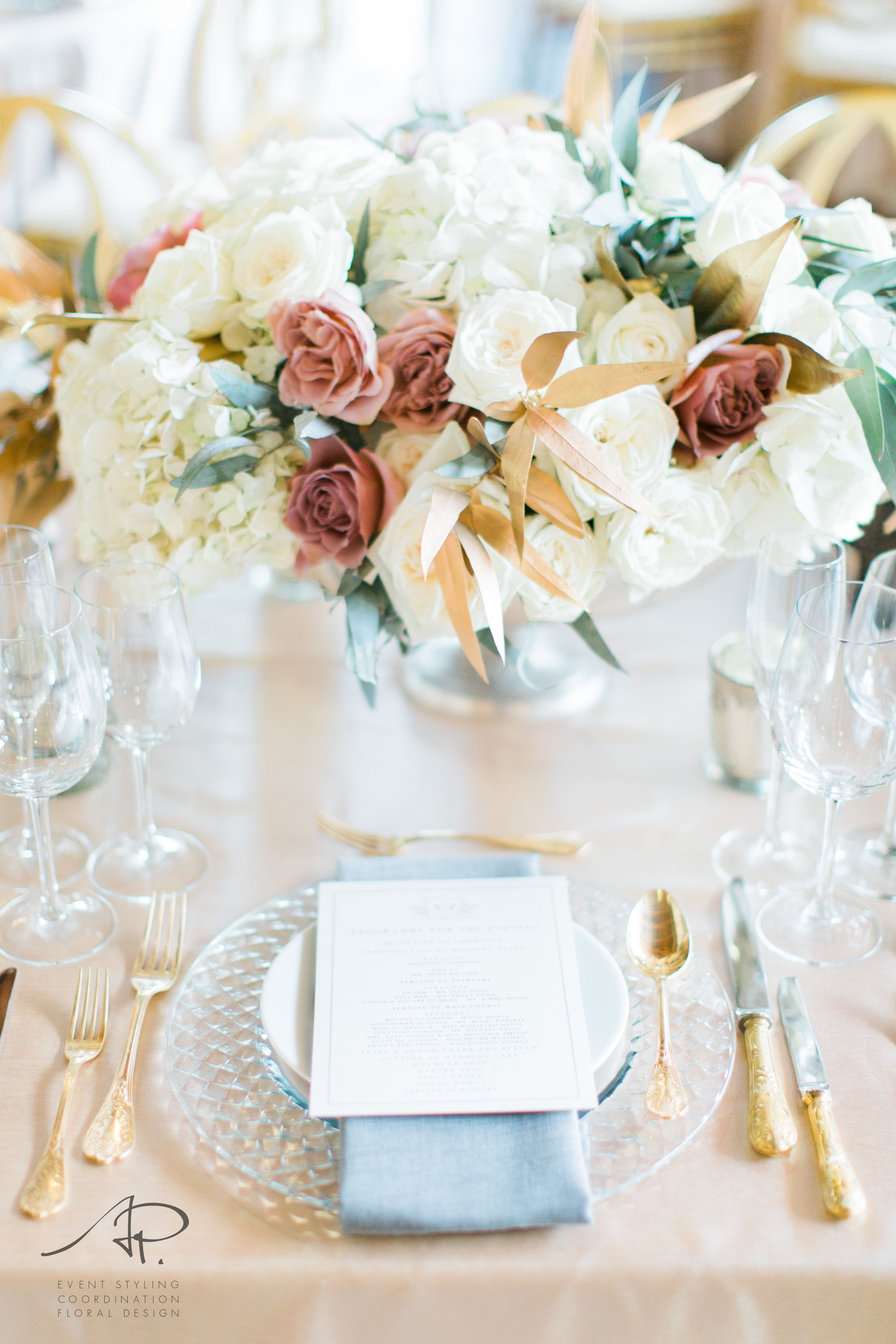 Luxury wedding. Fine Art wedding flowers with huge arrangements ...