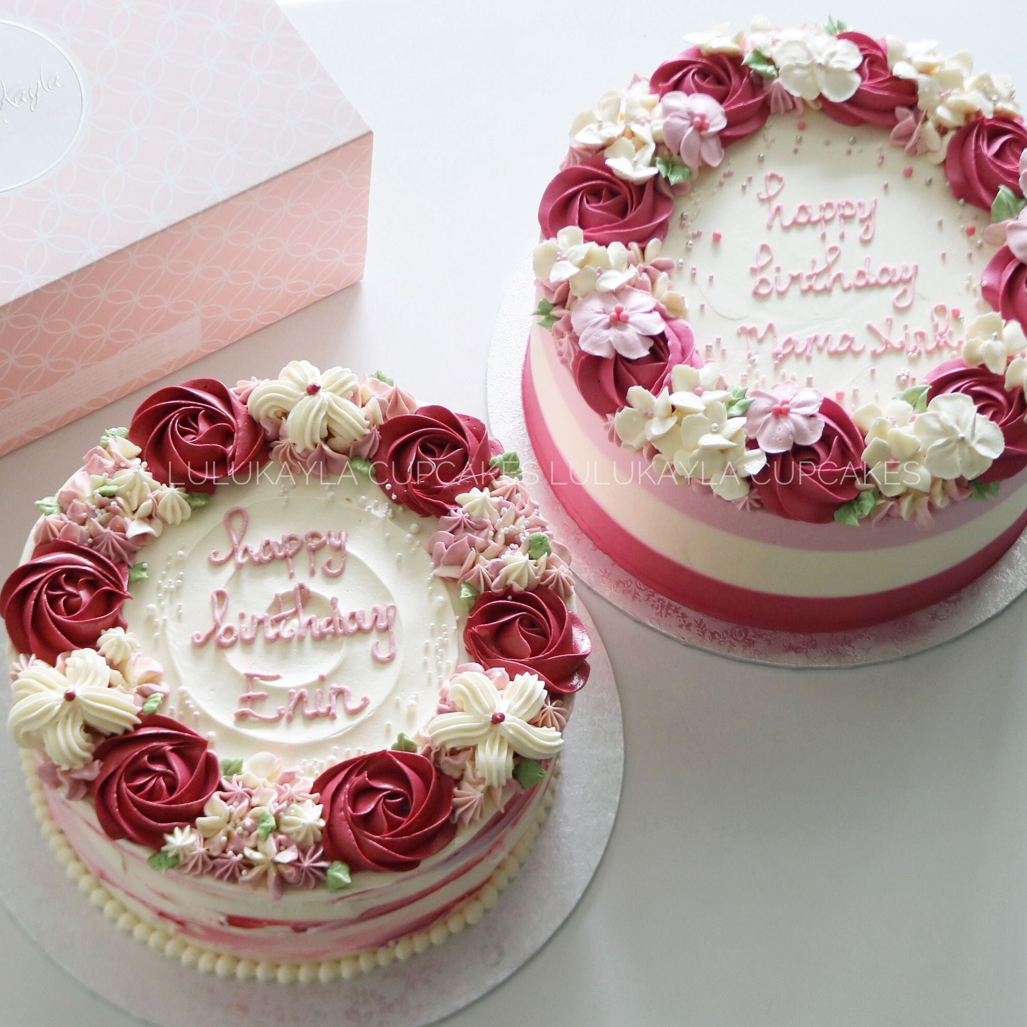 Rose Buttercream Cake Creative Cake Decorating Floral Cake Flower Cake