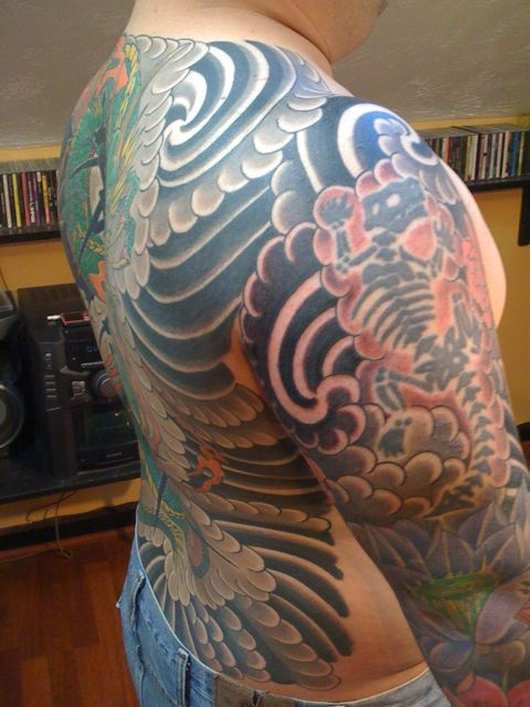 Japanese Wind Bars And Clouds Google Search Japanese Sleeve Tattoos Sleeve Tattoos Tribal Tattoos