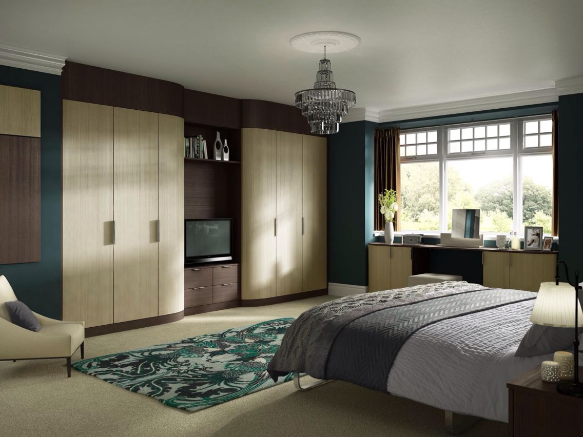 contemporary fitted bedroom furniture. Fitted Wardrobes With Tv Space Contemporary Bedroom Furniture