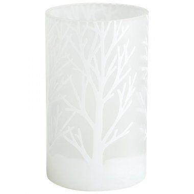 Vases | Oak Bark White Frost Glass Vase | Small