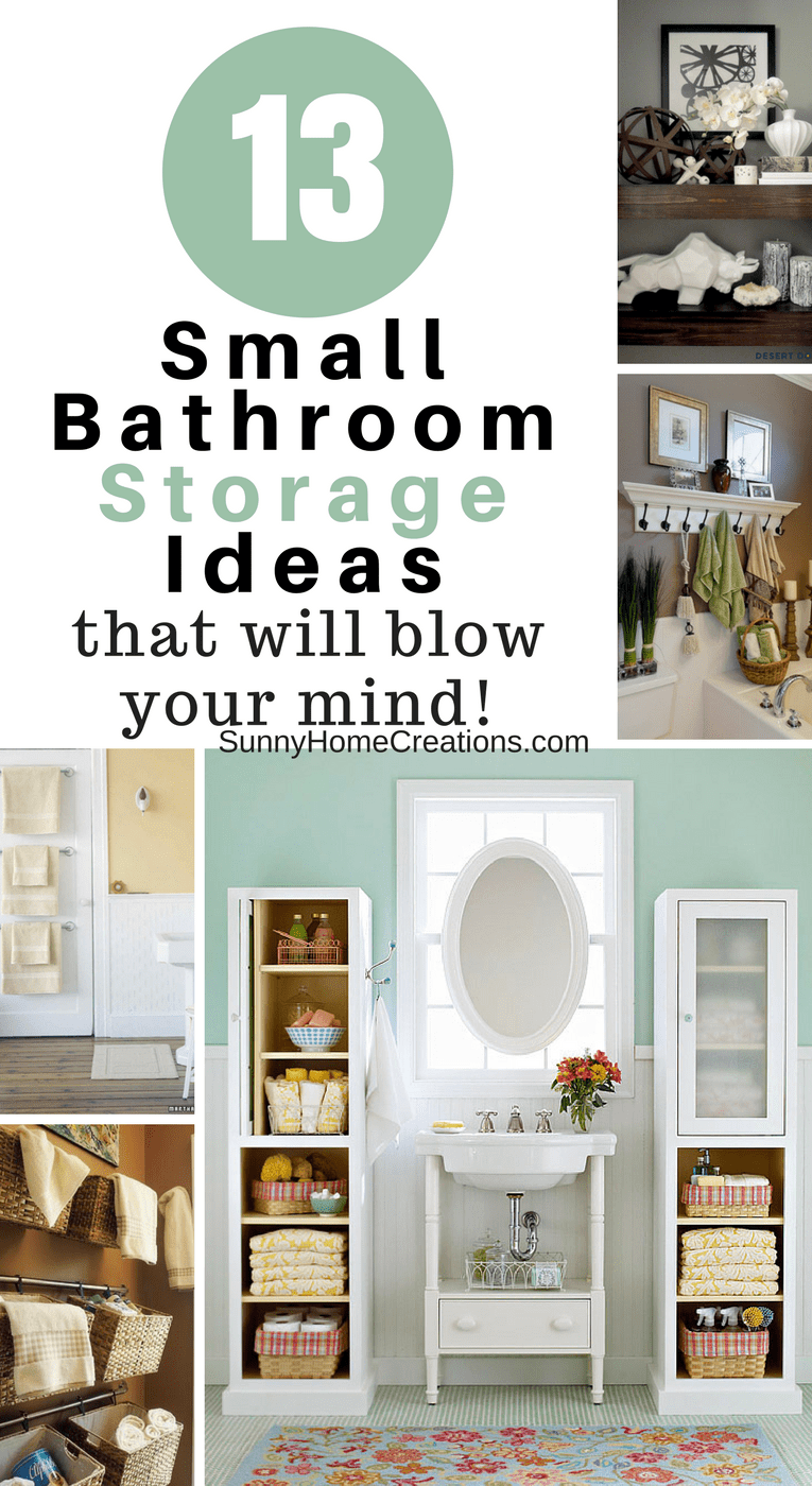 13 Mind Blowing Small Bathroom Storage Ideas | Pinterest | Small ...