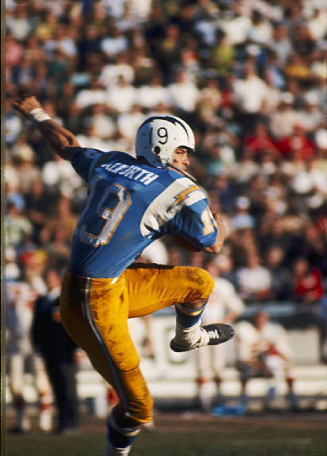 ALWORTH Chargers football, American football league
