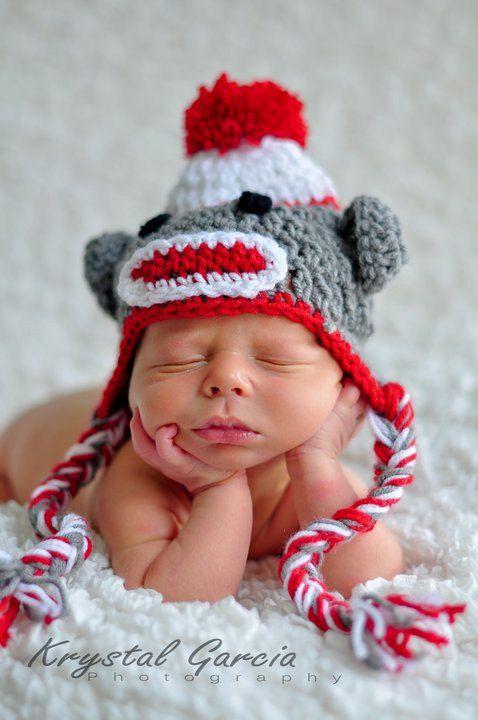 6f20a1da2 sock monkey! | Hats! | Sock monkey baby, Baby hats, Sock monkey hat
