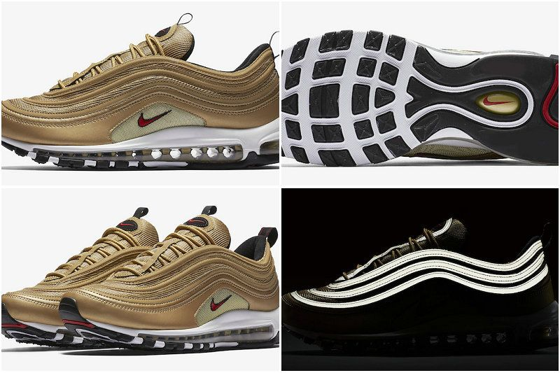 2017 Fall Winter New NIKE Air Max 97 OG Metallic Gold