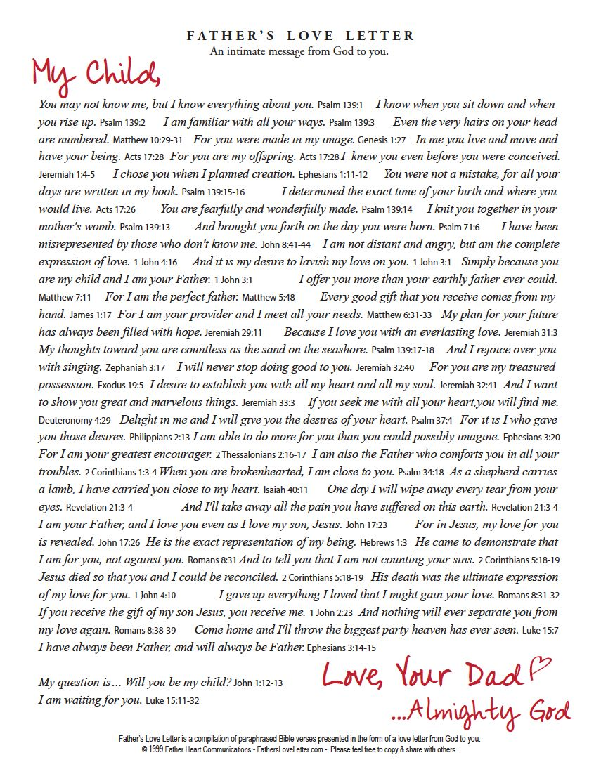 photograph relating to The Father's Love Letter Printable called Pin through Jen Dad or mum upon Gods Lady Fathers delight in letter