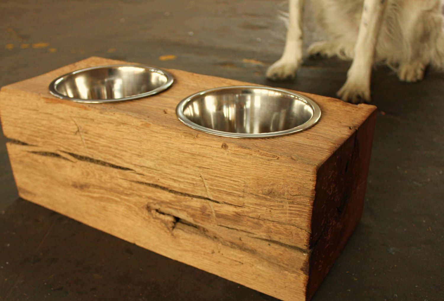 1000+ Images About Projects To Try On Pinterest Pallet Chair, Wine Racks  And Repurposed Additional Photos: Dog Bowl Stand Like This Item?