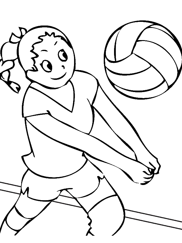 Girls Volleyball Team Coloring Page Download Print Online Coloring Pages For Free Co Sports Coloring Pages Geometric Coloring Pages Online Coloring Pages