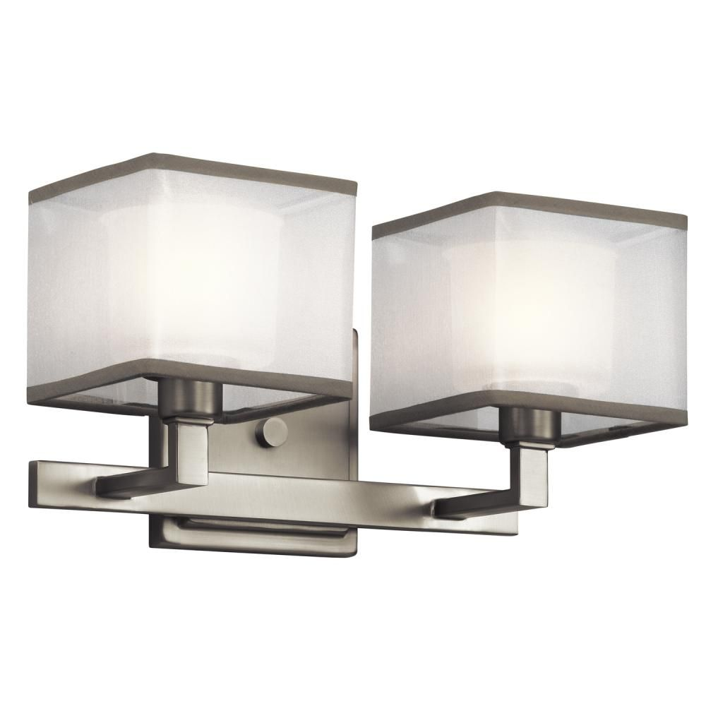 Square Shade Brushed Nickel Vanity Light Dulles Electric Supply