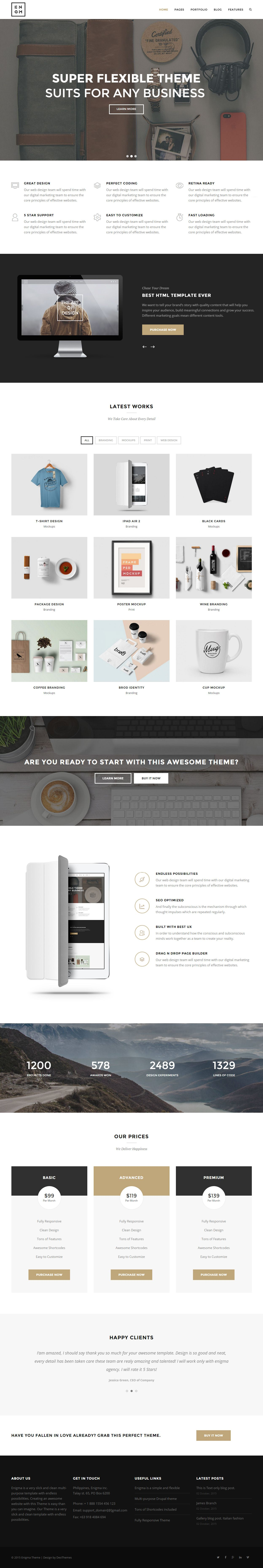 Google themes video - Enigma Is Premium Responsive Retina Theme Bootstrap One Page Video Background Google Map Test Free Demo At
