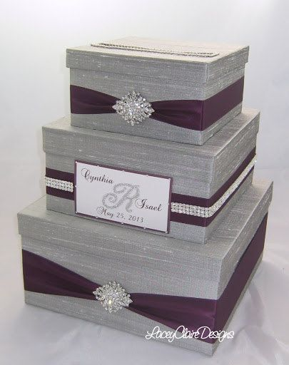 Wedding Gift Box Bling Card Rhinestone Money Holder Custom Made