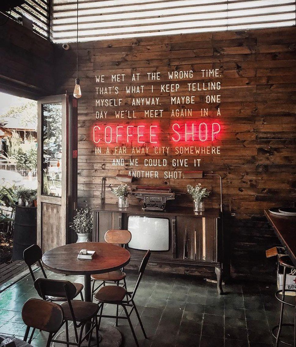 The Spot For Coffeelovers On Instagram West Java Coffee Shop Vibes Have You Ever Be Coffee Shop Decor Coffee Shop Interior Design Vintage Coffee Shops