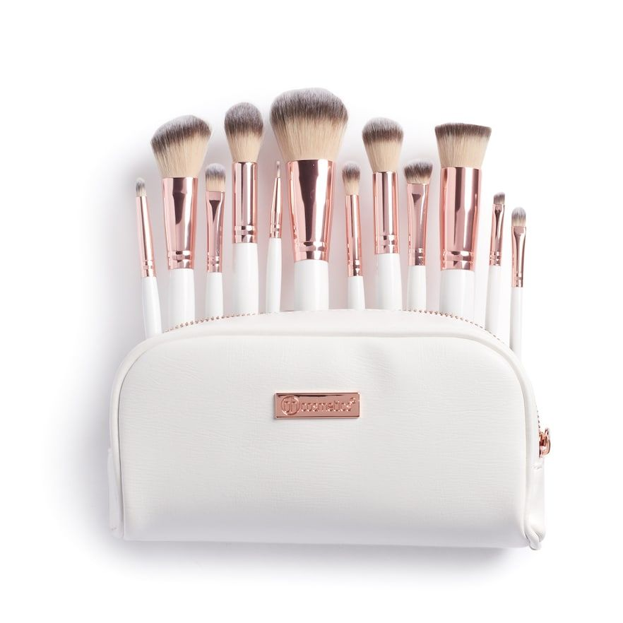 Bh Cosmetics Rose Romance 12 Pc Makeup Brush Set In 2020 Bh Cosmetics Makeup Brush Set Best Makeup Brushes
