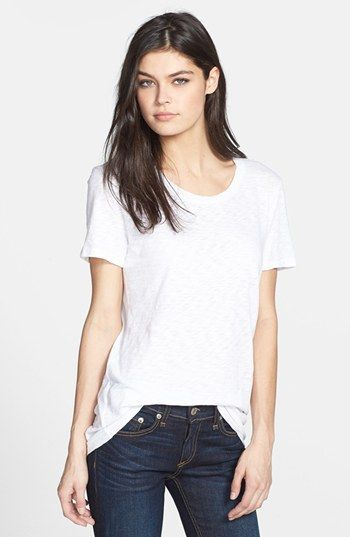"rag & bone/JEAN 'The Classic' Slubbed Cotton Tee available at #Nordstrom $80.00 Item #992833     A classic scoop-neck tee is supersoft and comfortable in a slubbed cotton knit.      24 1/2"" length (size Medium).     100% cotton.     Machine wash cold.     By rag & bone/JEAN; imported.     t.b.d."