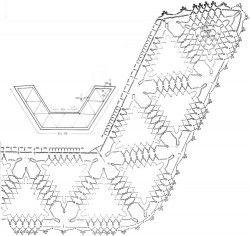 Воротник из ажурных треугольных мотивов
