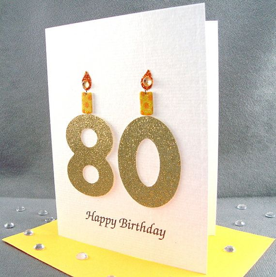 80th Birthday Card 80th Milestone Birthday Card 80th Etsy 80th Birthday Cards Birthday Cards 1st Birthday Cards