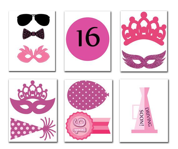 Sweet 16 Photo Booth Props Sweet 16 Photobooth Party Ideas