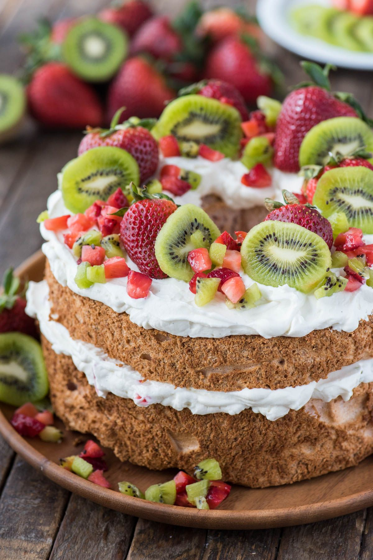 Flavored angel food cake is an epic summer dessert use