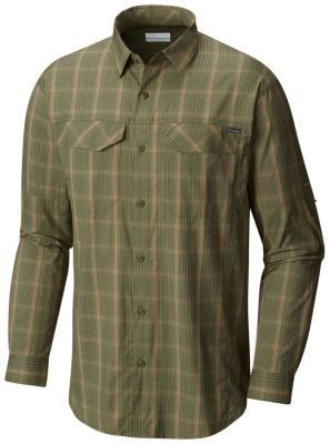 8eac09caab1 Cover: Columbia Men's Silver Ridge Lite Long Sleeve Shirt, surplus green.  The ideal shirt to tackle any trail. This long sleeve plaid shirt features  wicking ...
