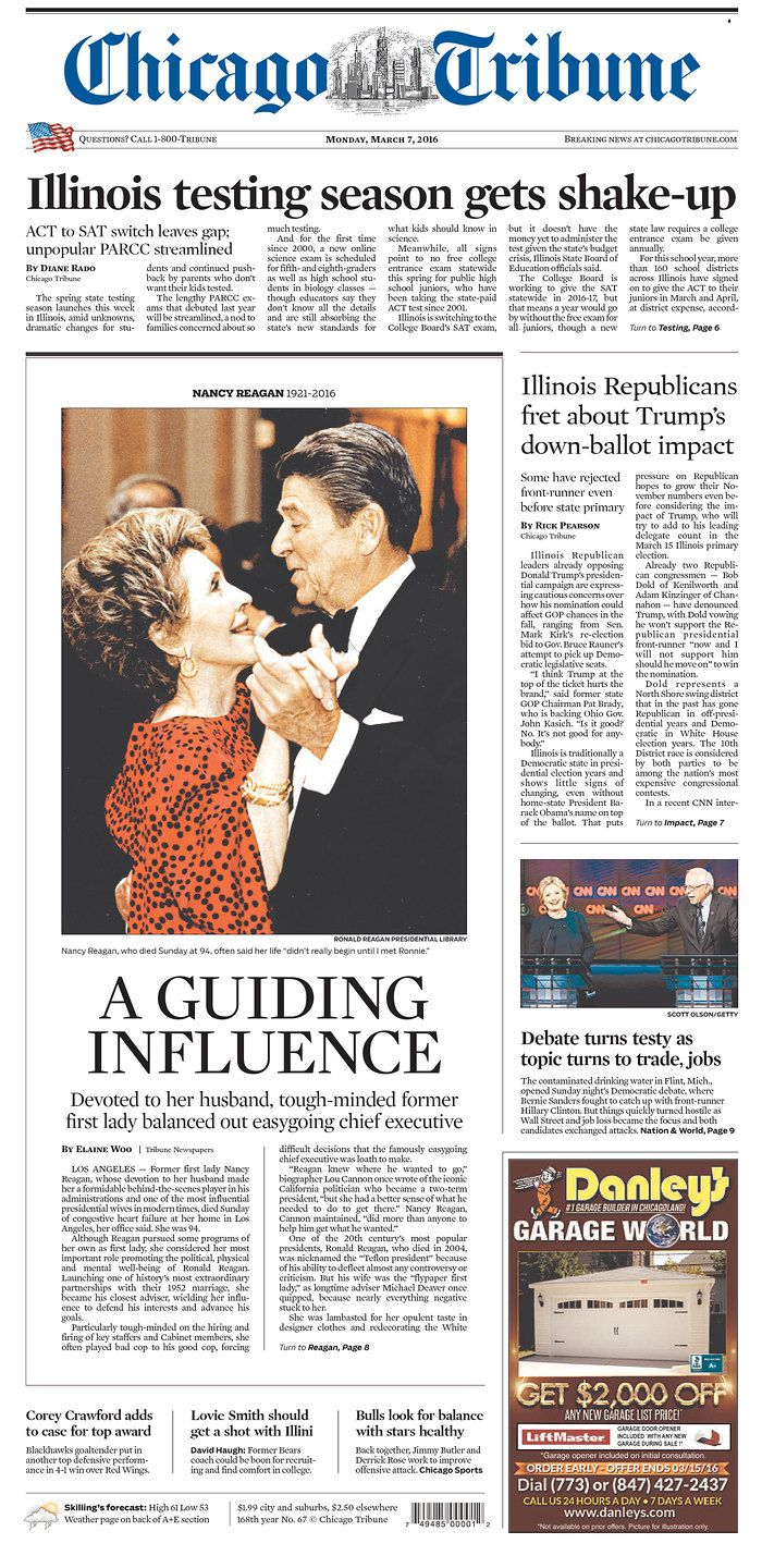 #20160307 #USA #ILLINOIS #CHICAGO Monday MAR 07 2016 #ChicagoTribune http://www.newseum.org/todaysfrontpages/?tfp_show=80&tfp_page=2&tfp_id=IL_CT