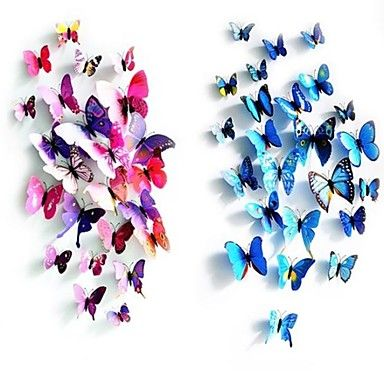 Home Decor Butterfly Art Decal Colours PVC Wall Stickers