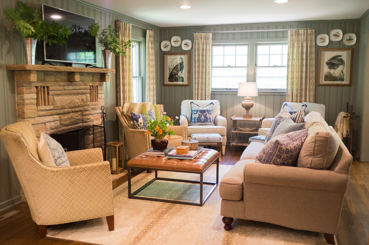Maggie Griffin Design Cozy Mountain Cottage Family Room Photo