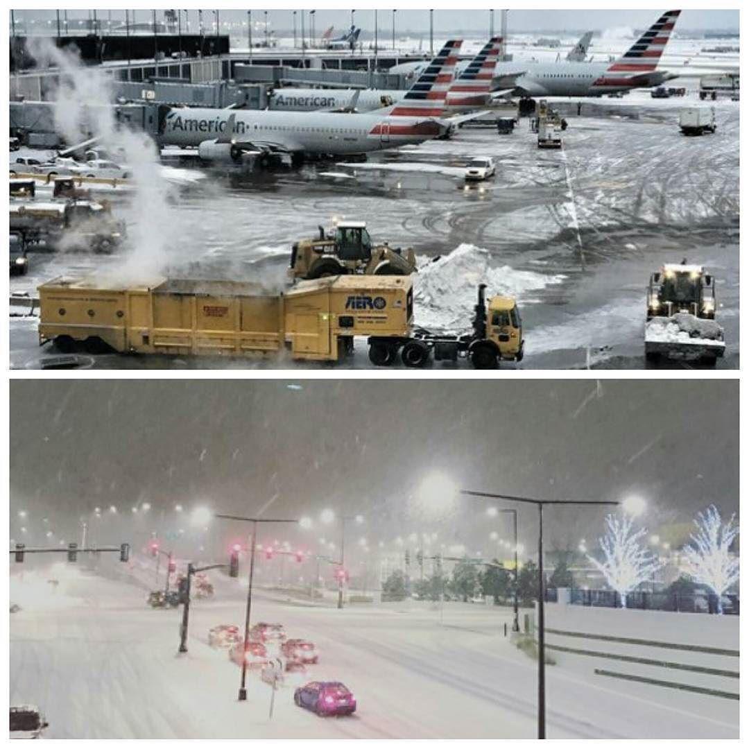 #شبكة_أجواء : #امريكا : صور من العاصفة الثلجية التي تتحرك عبر الغرب الأوسط والشمال الشرقي