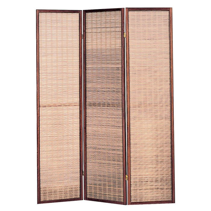 3 Panel Jute Inlay Folding ScreenRoom Divider Home Design