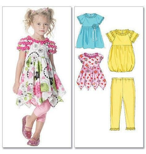 GIRLS SEWING PATTERN / Make Boutique Style Dress and Leggings ...