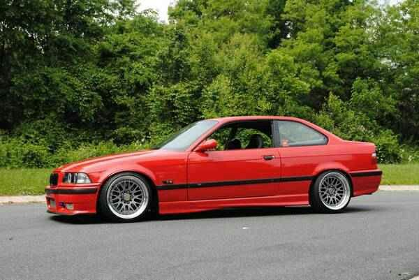 Hellrot Red Bmw E36 M3 With Images Bmw Bmw Red Bmw E36