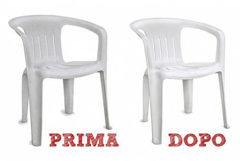Le Sedie Di Plastica E Il Tavolo Da Giardino Sembrano Ormai Da