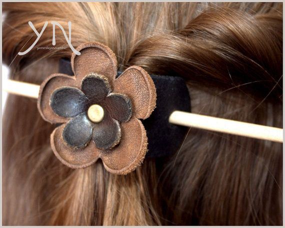 Hey, I found this really awesome Etsy listing at https://www.etsy.com/uk/listing/259883565/flower-hair-slide-leather-hair
