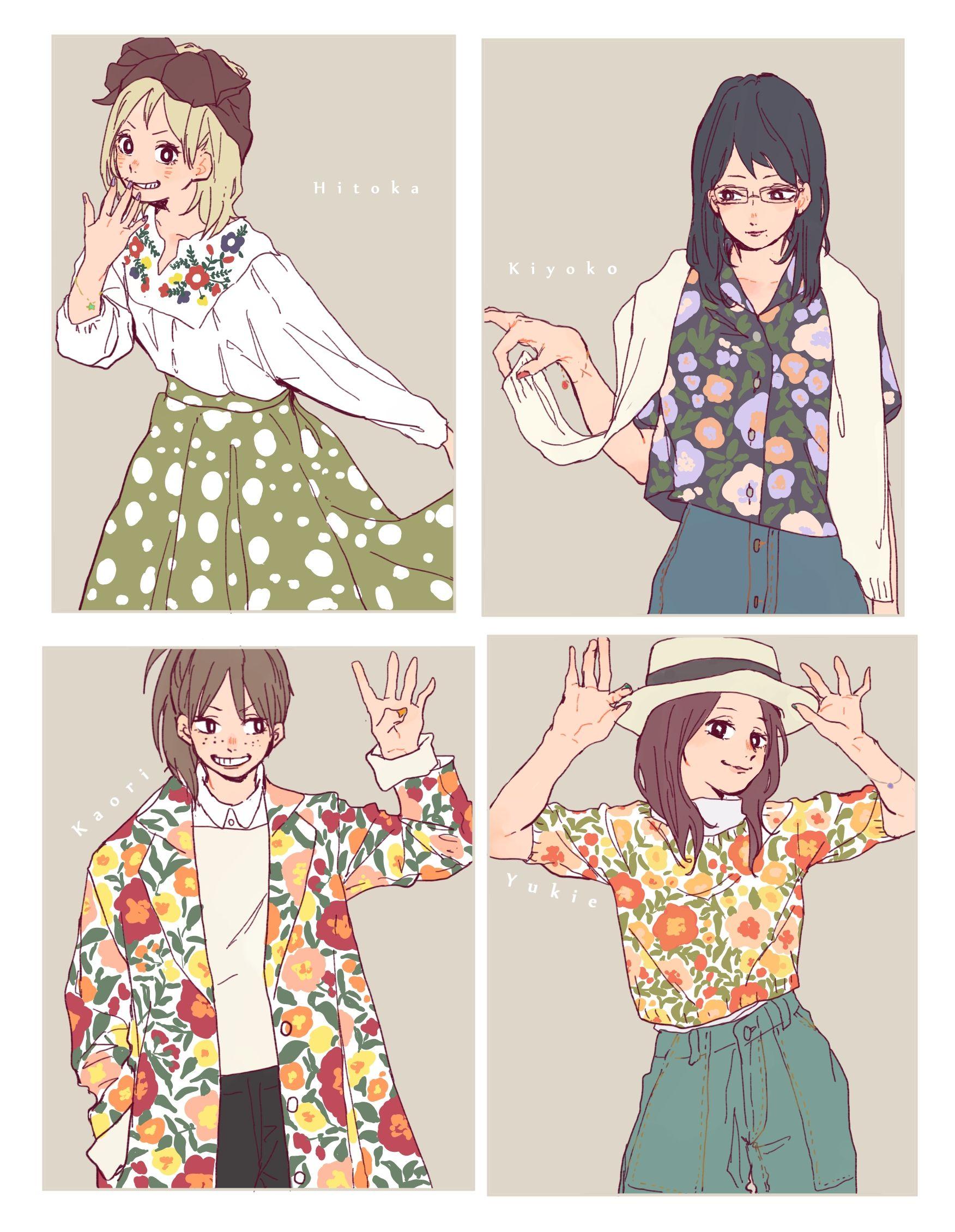 Tags: Fanart, Pixiv, Fanart From Pixiv, Haikyuu!!, Shimizu Kiyoko, Hitoka Yachi, Pixiv Id 7173738, Suzumeda Kaori, Shirofuku Yukie