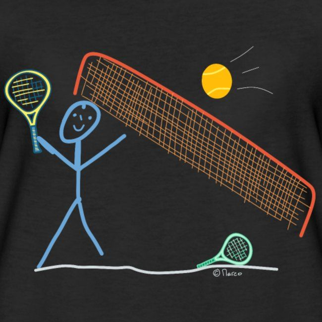 Tennis Sport Strichmännchen Spiel Ball Schlag Spaß | Frauen Premium T-Shirt