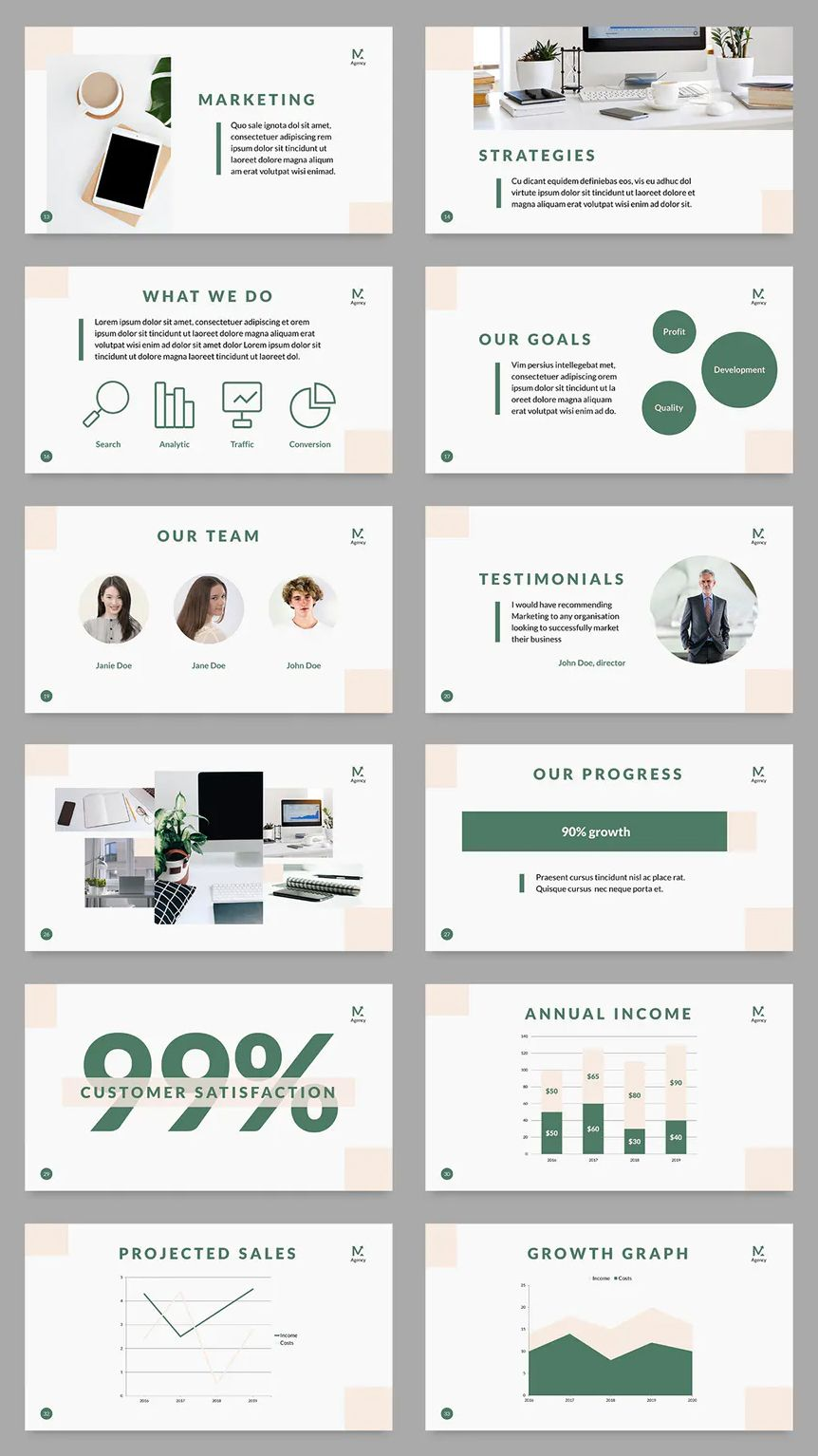 Digital Marketing Company PowerPoint Presentation Template - 50+ Unique Slides